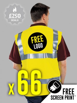 66 x Portwest Hi-Vis Vests