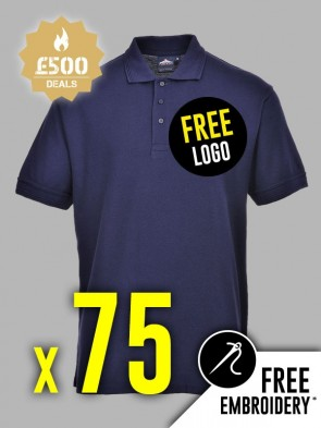 75 x Portwest Naples Polo Shirts