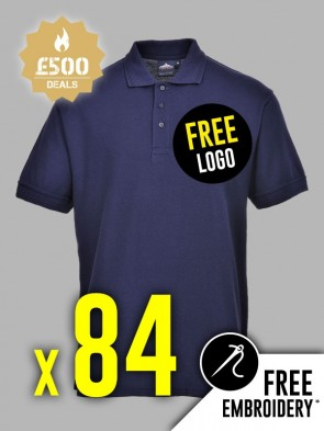 84 x Portwest Naples Polo Shirts