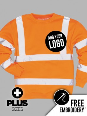 Portwest PLUS SIZE Hi-Vis GO/RT Sweatshirt
