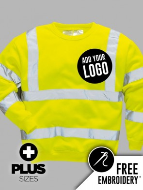 Portwest PLUS SIZE Hi-Vis Sweatshirt