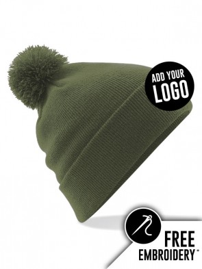 Beechfield Original Pom Pom Beanie Hat