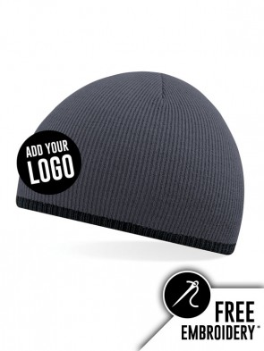 Beechfield Two-Tone Pull On Beanie Hat