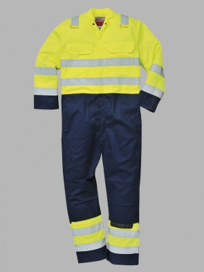 Portwest Bizflame Flame Resistant Hi-Vis Anti-Static Contrast Pro Overall