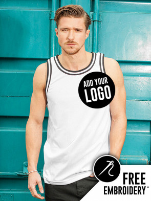 Build Your Brand Mesh 100% Polyester Tank Top Vest