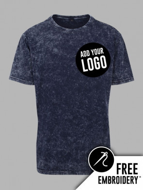 Build Your Brand Acid Washed 100% Cotton T-Shirt