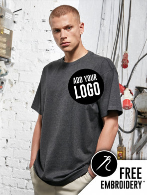 Build Your Brand Heavy Oversized 100% Cotton T-Shirt