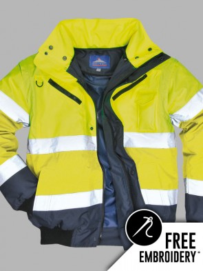 Portwest Hi-Vis 3 in 1 Contrast Bomber Jacket