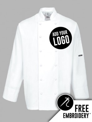 Portwest Dundee Ring Stud 100% Cotton Chefs Jacket