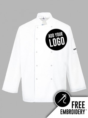 Portwest Suffolk Ring Stud Chefs Jacket