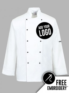 Portwest Somerset Popper Chefs Jacket