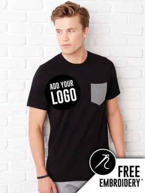 Bella+Canvas Contrast Jersey Pocket T-Shirt