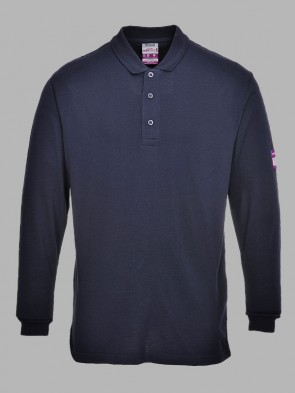 Portwest Modaflame Flame Resistant Anti-Static Long Sleeve Polo Shirt
