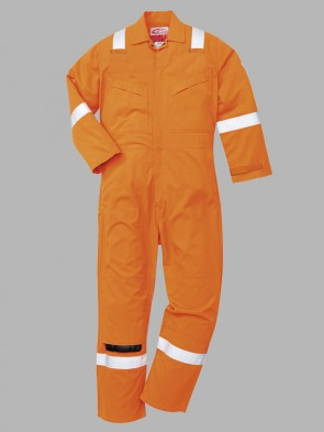 Portwest Flame Resistant Hi-Vis Lightweight Anti-Static Overall