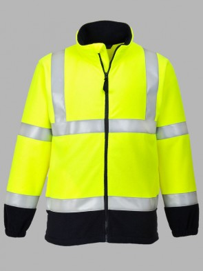 Portwest Moda Flame Resistant Hi-Vis Two Tone Anti-Static Fleece