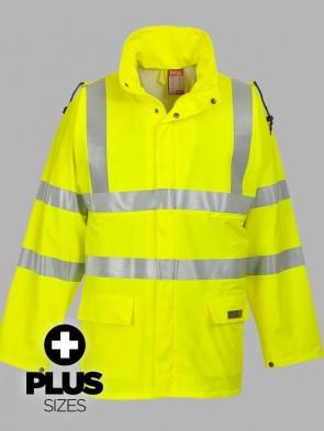 Portwest PLUS SIZE Sealtex Flame Resistant Hi-Vis Rain Jacket