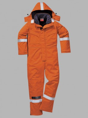 Portwest Flame Resistant Hi-Vis Anti-Static Winter Overall