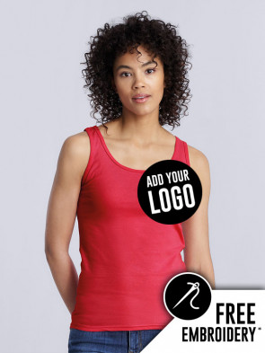 Gildan Ladies Softstyle 100% Cotton Tank Top Vest