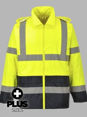 Portwest PLUS SIZE Hi-Vis Classic Two Tone Rain Jacket