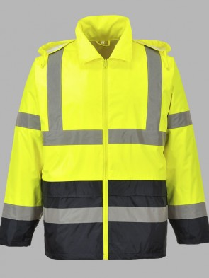 Portwest Hi-Vis Classic Two Tone Rain Jacket