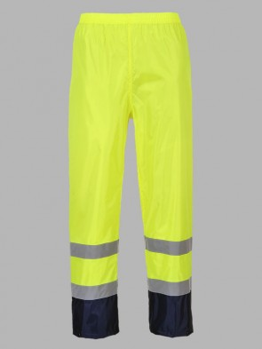 Portwest Hi-Vis Classic Two Tone Rain Trousers