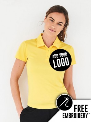 AWDis Ladies 100% Polyester Cool Polo Shirt