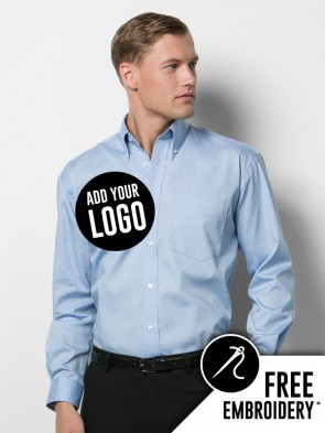 Kustom Kit Long Sleeve Corporate Oxford Shirt