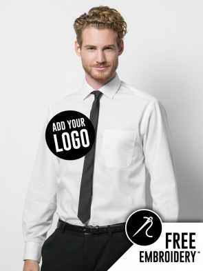 Kustom Kit Premium Non-Iron Corporate 100% Cotton Long Sleeve Shirt