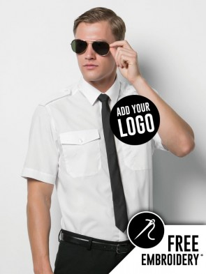 Kustom Kit Short Sleeve Pilot Shirt