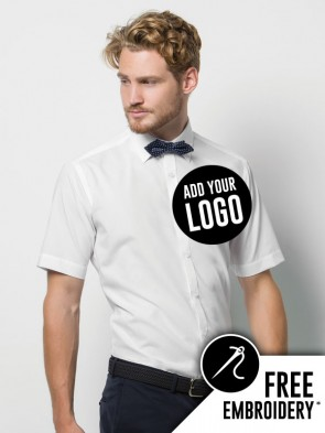Kustom Kit Slim Fit Short Sleeve Business Shirt
