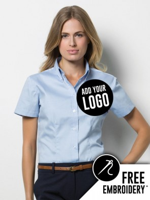 Kustom Kit Ladies Short Sleeve Oxford Shirt