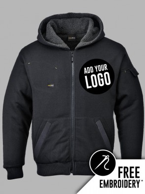 Portwest Pewter Fleece Lined Full Zip Hoodie