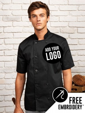 Premier Button Short Sleeve Chefs Jacket