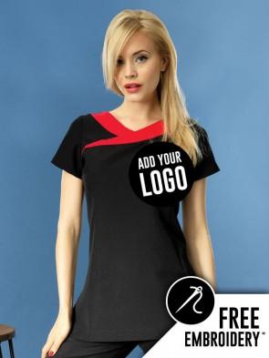 Premier Ivy Beauty & Spa Contrast Neckline Tunic