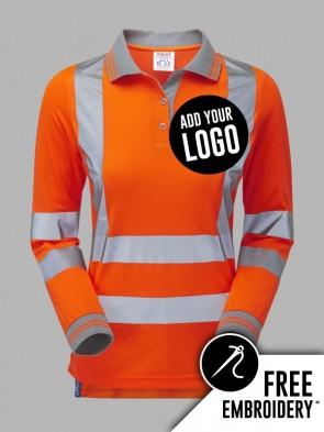 Pulsar Ladies Hi-Vis Rail Spec Long Sleeve Polo Shirt