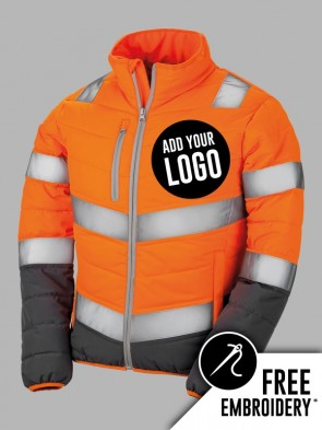 Result Safe-Guard Ladies Hi-Vis Soft Padded Safety Jacket