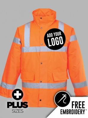 Portwest PLUS SIZE Hi-Vis GO/RT Traffic Jacket