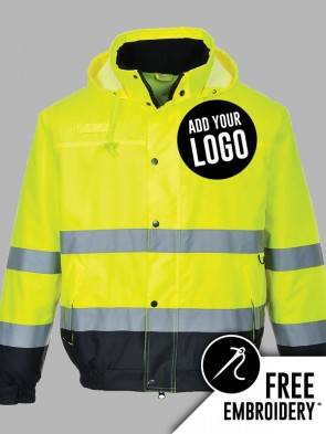 Portwest Hi-Vis Two Tone Bomber Jacket