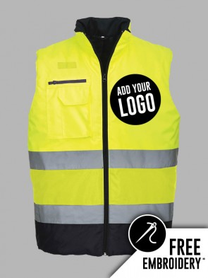 Portwest Hi-Vis Two Tone Bodywarmer