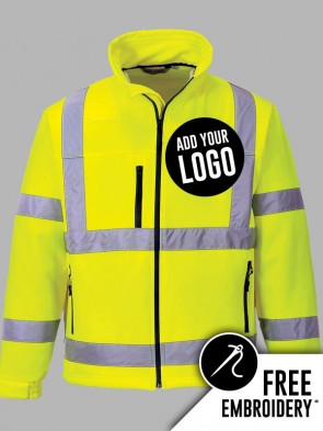 Portwest Hi-Vis Classic Soft Shell Jacket