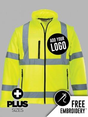 Portwest PLUS SIZE Hi-Vis 2 in 1 Soft Shell Jacket