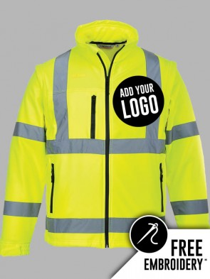 Portwest Hi-Vis 2 in 1 Soft Shell Jacket