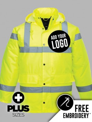 Portwest PLUS SIZE Hi-Vis Traffic Jacket