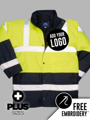 Portwest PLUS SIZE Hi-Vis Two Tone Traffic Jacket