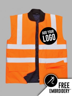 Portwest Hi-Vis GO/RT Reversible Bodywarmer