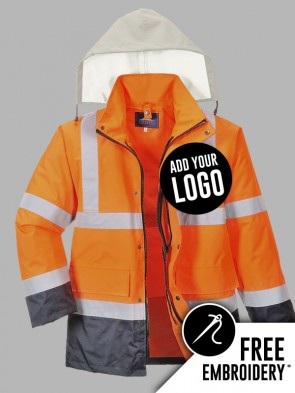 Portwest Hi-Vis 4 in 1 Contrast Traffic Jacket