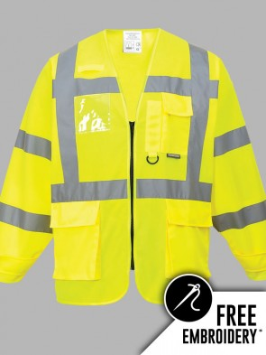 Portwest Hi-Vis Executive Long Sleeve Vest