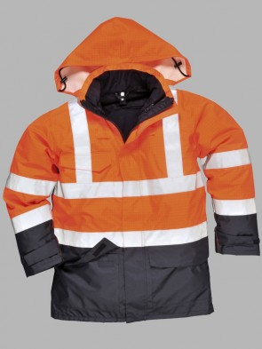 Portwest Bizflame Hi-Vis Flame Resistant Anti-Static Two Tone Multi-Protection Jacket