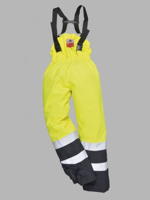 Portwest Bizflame Hi-Vis Flame Resistant Anti-Static Two Tone Multi-Protection Lined Trousers