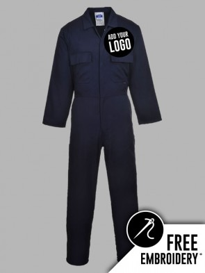 Portwest Euro Work Polycotton Stud Overall